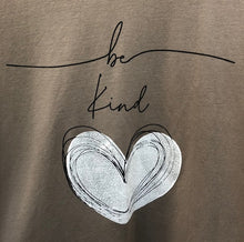 Load image into Gallery viewer, Made In Italy 'Be Kind' Heart Sweatshirt Hoodie Mocha