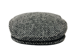 Harris Tweed Herringbone Design Flat Cap