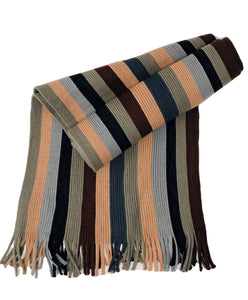 Italian Gentleman's College Scarf Brown - Scattee