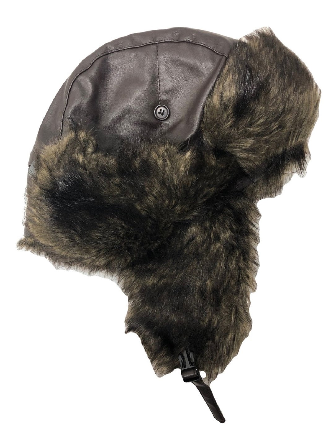 Faux Fur Trapper Hat Brown - Scattee