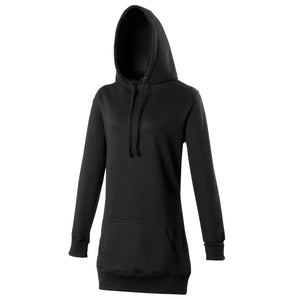 Longline Girlie Fitted Hoodie Black