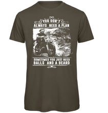 Load image into Gallery viewer, Always need a plan Biker T-Shirt - Scattee