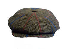 Load image into Gallery viewer, Baker Boy Mens Tweed 8 Panel Cap Brown - Scattee