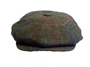 Baker Boy Mens Tweed 8 Panel Cap Brown - Scattee