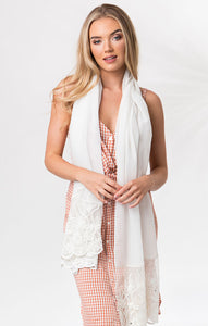 Lightweight Sequin and Embroidered Larisa Scarf