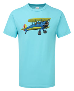 Boeing Stearman Cartoon T-Shirt - Scattee