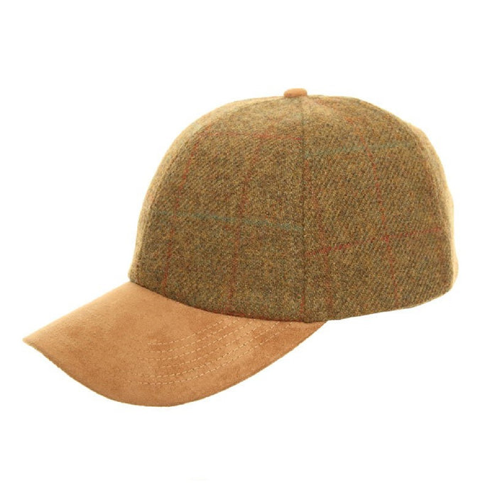 Country Luxury Tweed Cap with Suede Peak - Scattee