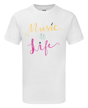 Load image into Gallery viewer, Music is Life T-Shirt