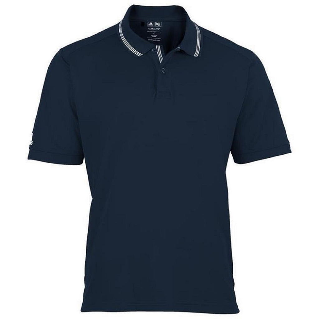 Adidas ClimaCool® Textured Polo Shirt Navy Blue - Scattee