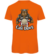 Load image into Gallery viewer, Cafe Dawg Biker T-Shirt - Scattee