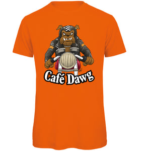 Cafe Dawg Biker T-Shirt - Scattee