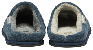 Dunlop Perry Mens Mule Stag Slippers Navy and Grey