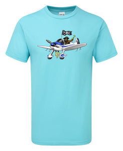 Long John Silver Pirate Pilot T-Shirt - Scattee