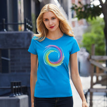 Load image into Gallery viewer, Unique design NHS Swirly Rainbow T Shirt