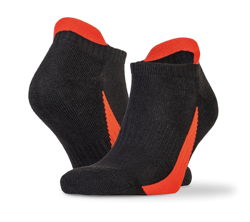Sipro 3-pack sports sneaker socks Black Red - Scattee