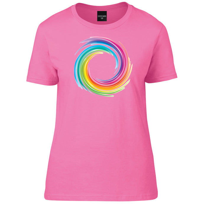 Unique design NHS Swirly Rainbow T Shirt