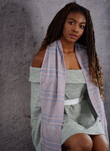 Load image into Gallery viewer, 100% Cashmere Grey Willow Tweed Scarf