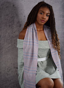100% Cashmere Grey Willow Tweed Scarf