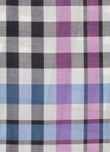 Load image into Gallery viewer, Dark Grey Jumbo Plaid 50% Wool 50% Silk Scarf