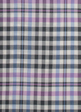 Load image into Gallery viewer, Dark Grey Border Plaid Wool Silk Scarf