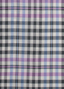 Dark Grey Border Plaid Wool Silk Scarf