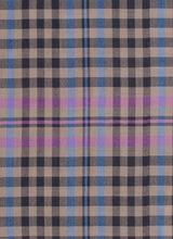 Load image into Gallery viewer, Silk Fawn Border Plaid 50% Wool 50% Silk Scarf