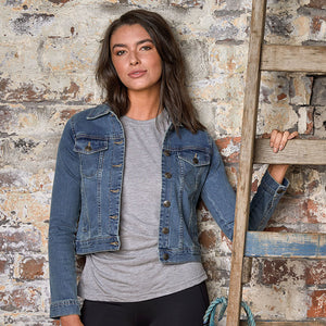 Olivia Denim Jacket Light Blue - Scattee