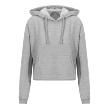 Load image into Gallery viewer, Girlie Cropped Hoodie Grey - Scattee