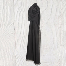 Load image into Gallery viewer, Black Elegance Thistledown Cashmere Stole