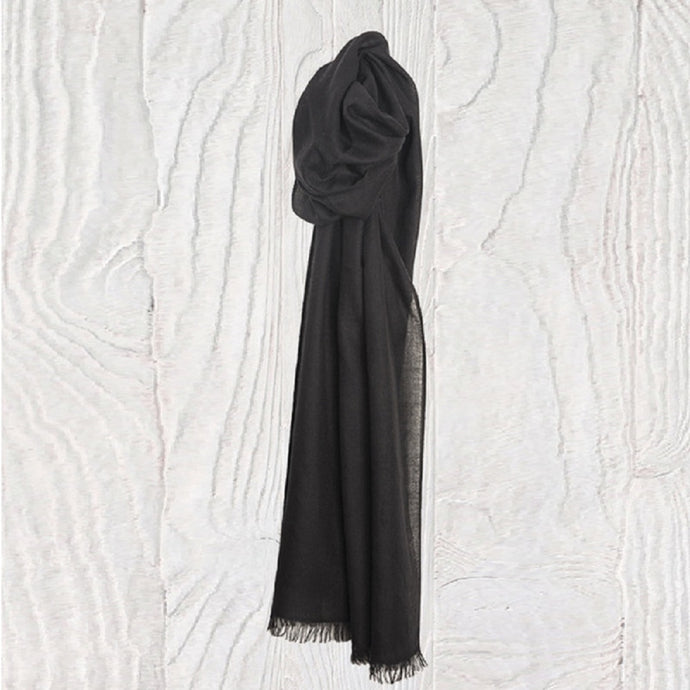 Black Rockpool Thistledown Cashmere Stole