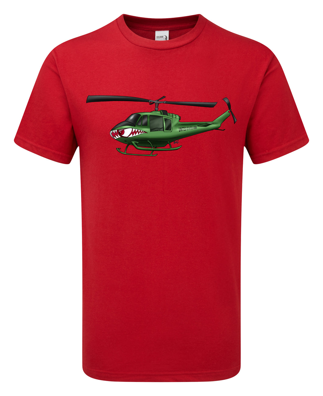 Huey Helicopter Cartoon T-Shirt - Scattee
