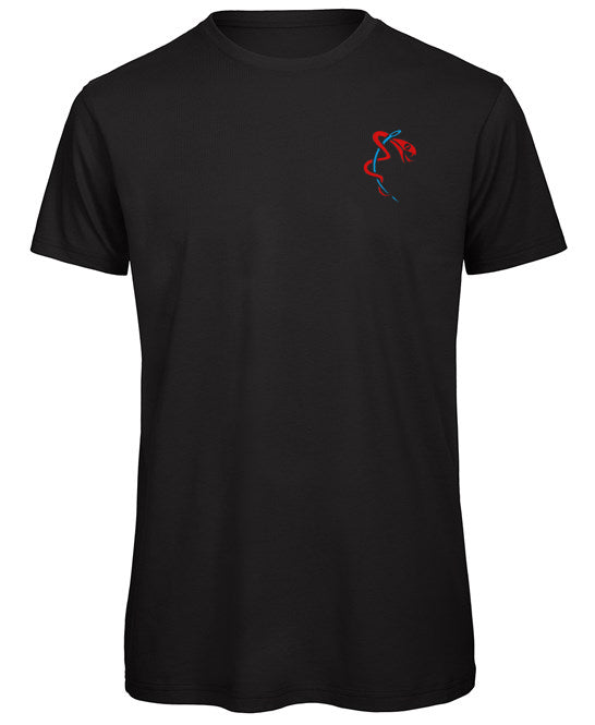 Organic Cotton Black Crew Neck T-Shirt by Stitched Up Sports