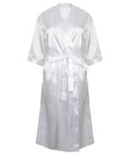Load image into Gallery viewer, Women's Kimono Style satin robe white