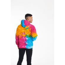 Load image into Gallery viewer, Classic Multi Rainbow tie-dye hoodie