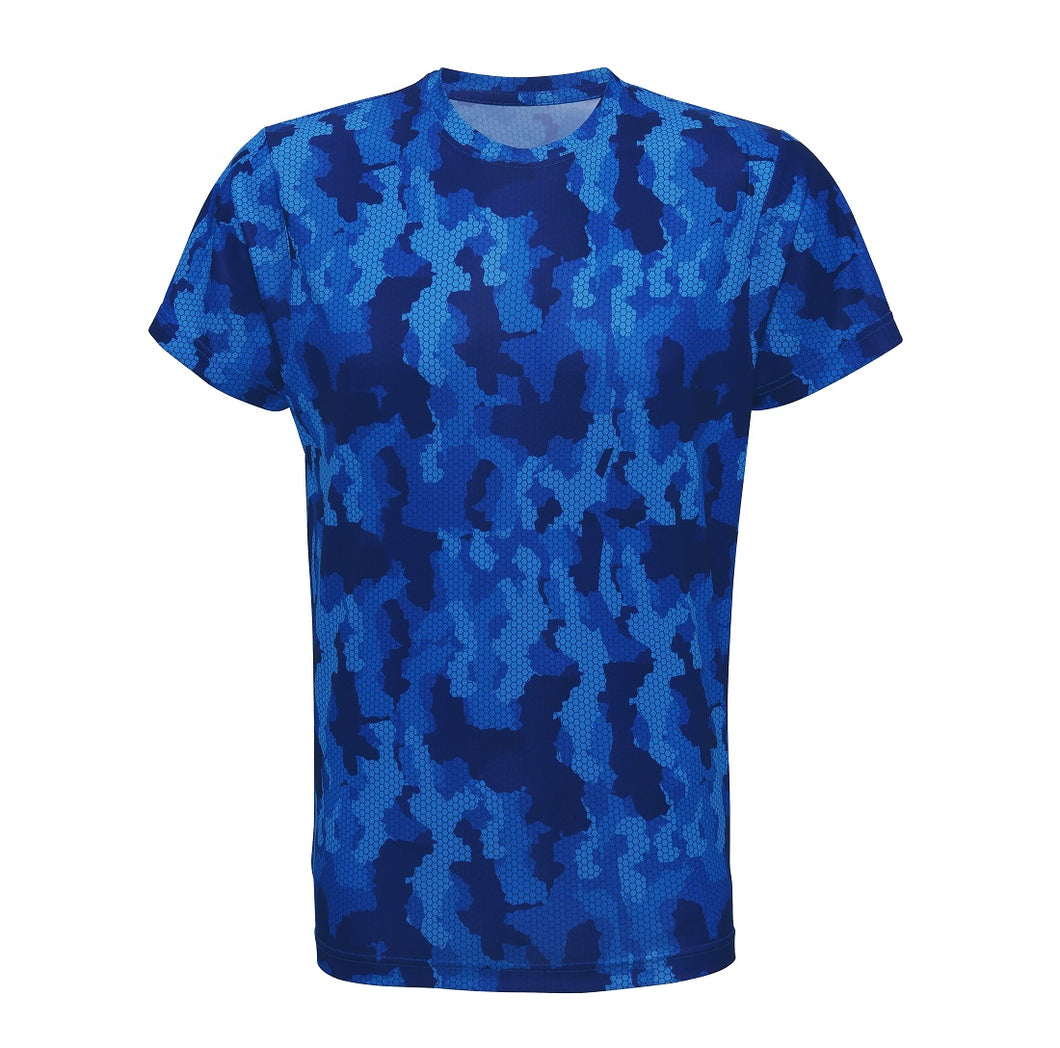Camo performance T-Shirt Royal Blue - Scattee