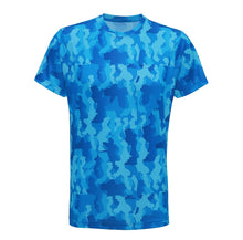 Load image into Gallery viewer, Camo performance T-Shirt Sapphire - Scattee