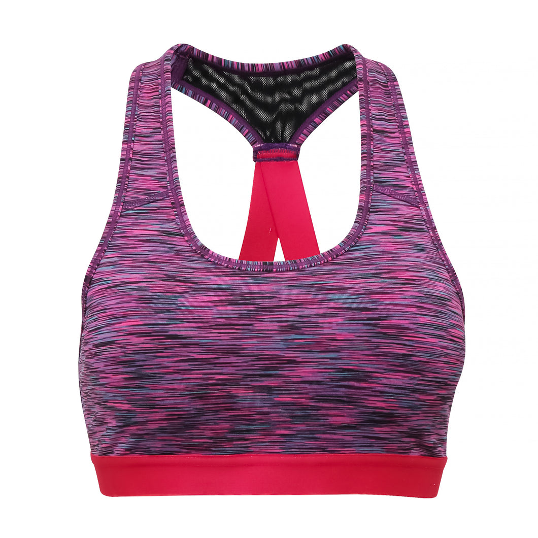 Performance Sports Bra Purple & Pink - Scattee