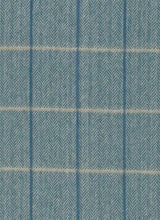 Load image into Gallery viewer, 100% Cashmere Tweedwater Blue Herringbone Scarf