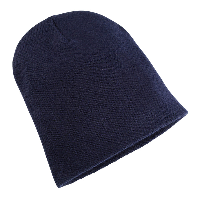 Heavyweight Long Beanie Hat Navy