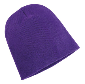 Heavyweight Long Beanie Hat Purple