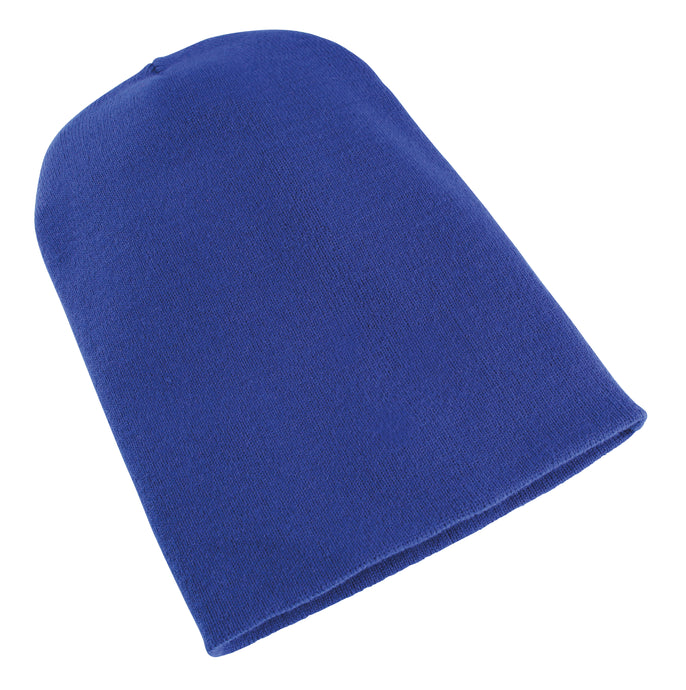Heavyweight Long Beanie Hat Royal Blue