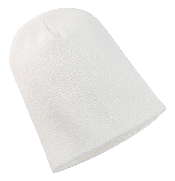 Heavyweight Long Beanie Hat White