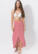 Load image into Gallery viewer, Allure Maxi Skirt Red & White