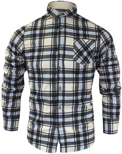 Ernst Long Sleeve Check Shirt Blue and Black