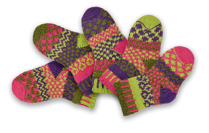 Mismatched Childrens Recycled Cotton Socks Grasshopper