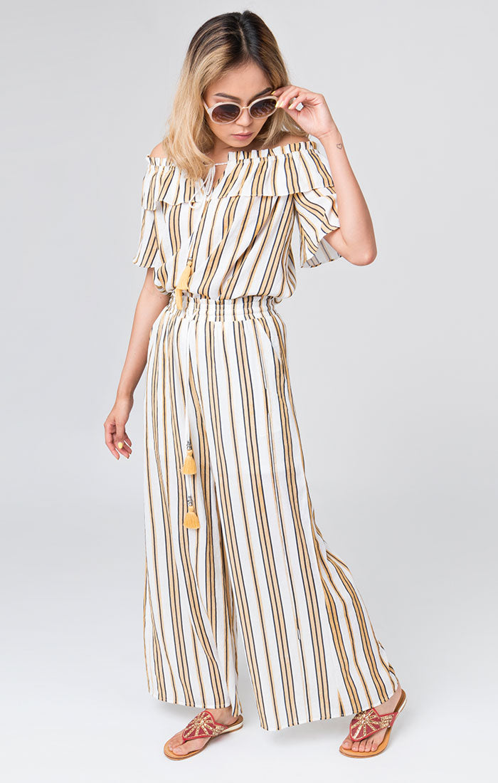 Striped Printed Summer Lewes Palazzo Pants
