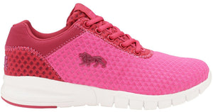 Lonsdale Tydro Trainers Pink and Beetroot