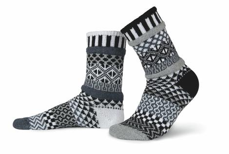Mismatched Recycled Cotton Socks Midnight