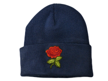 Load image into Gallery viewer, Embroidered Rose Beanie Hat - Scattee