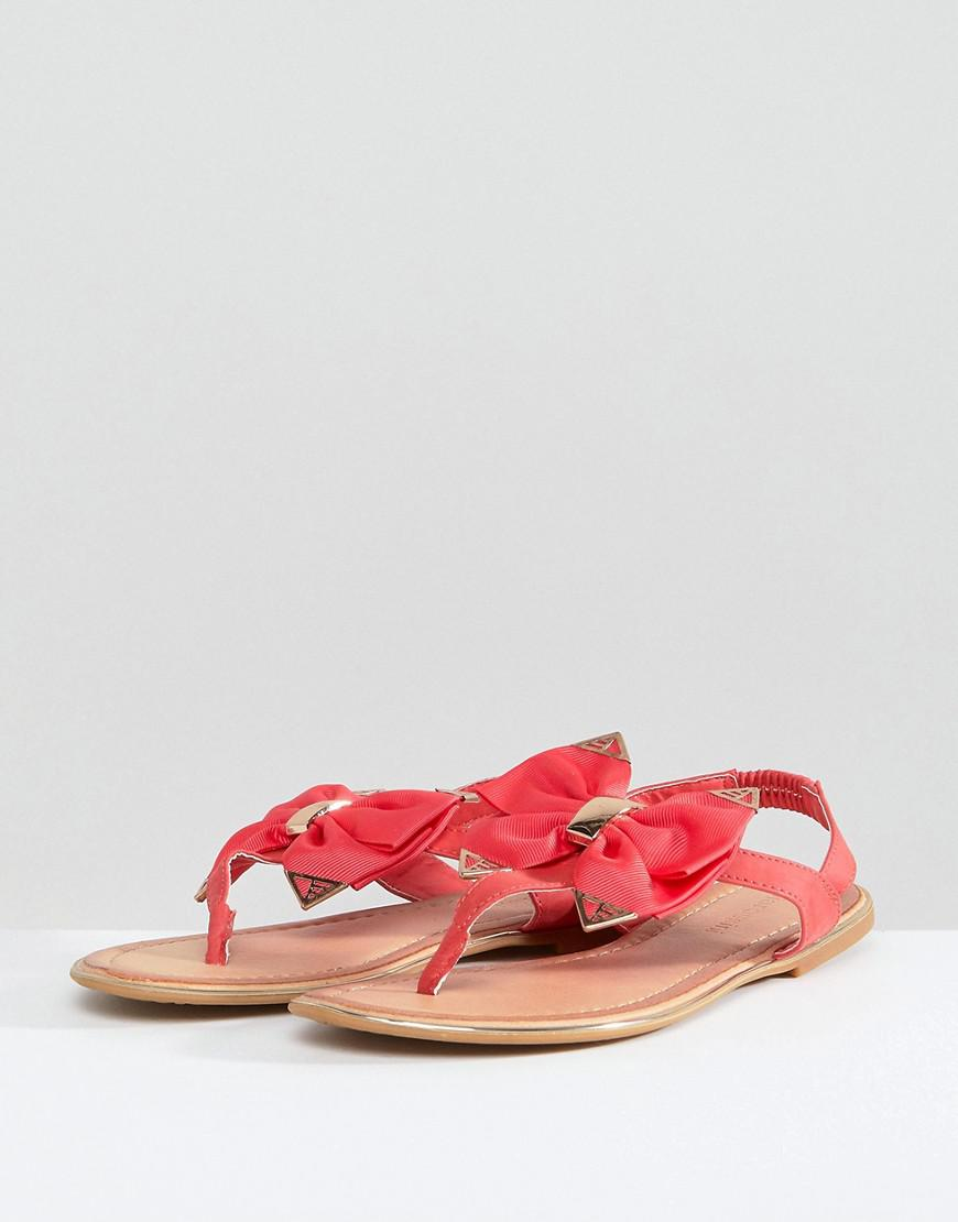 Stunning Summer Bow Detail Nemo Sandal Coral